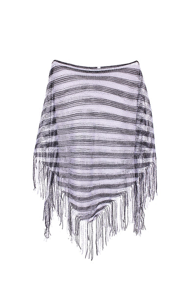 Sheer Lightweight Poncho Beach Coverup | 30% Off First Order | Black & Silver
