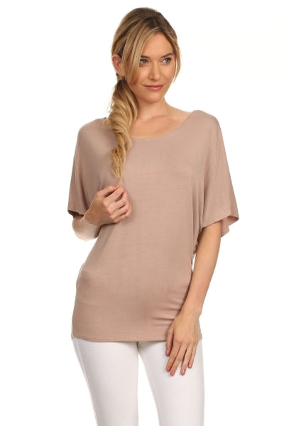 3/4 Kimono Sleeve Knit Top - BodiLove | 30% Off First Order  - 1