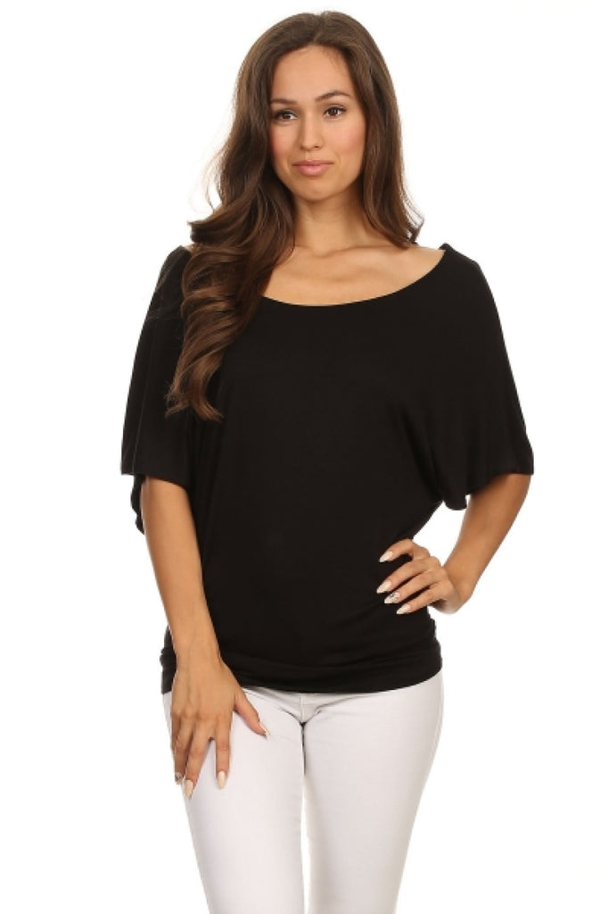 3/4 Kimono Sleeve Knit Top - BodiLove | 30% Off First Order  - 5