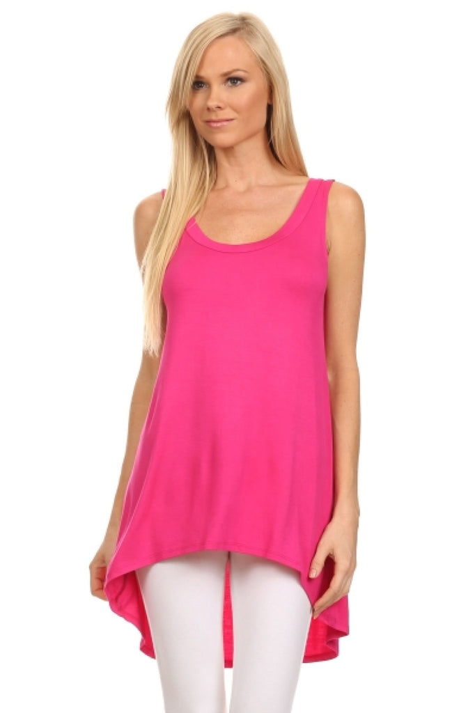 Sleeveless Hi-Low Knit Tunic Top - BodiLove | 30% Off First Order  - 25