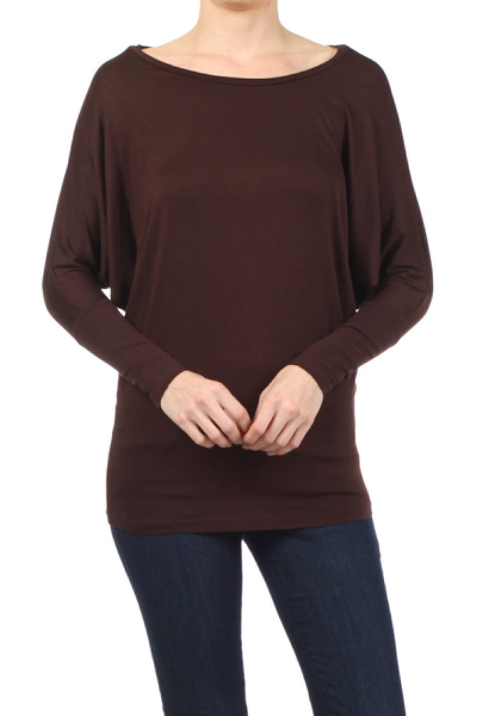 Long Dolman Sleeve Jersey Knit Tunic Top - BodiLove | 30% Off First Order  - 6