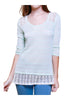 Trendy Knit Top W/ Sheer Crochet Lace Trim - BodiLove | 30% Off First Order - 4