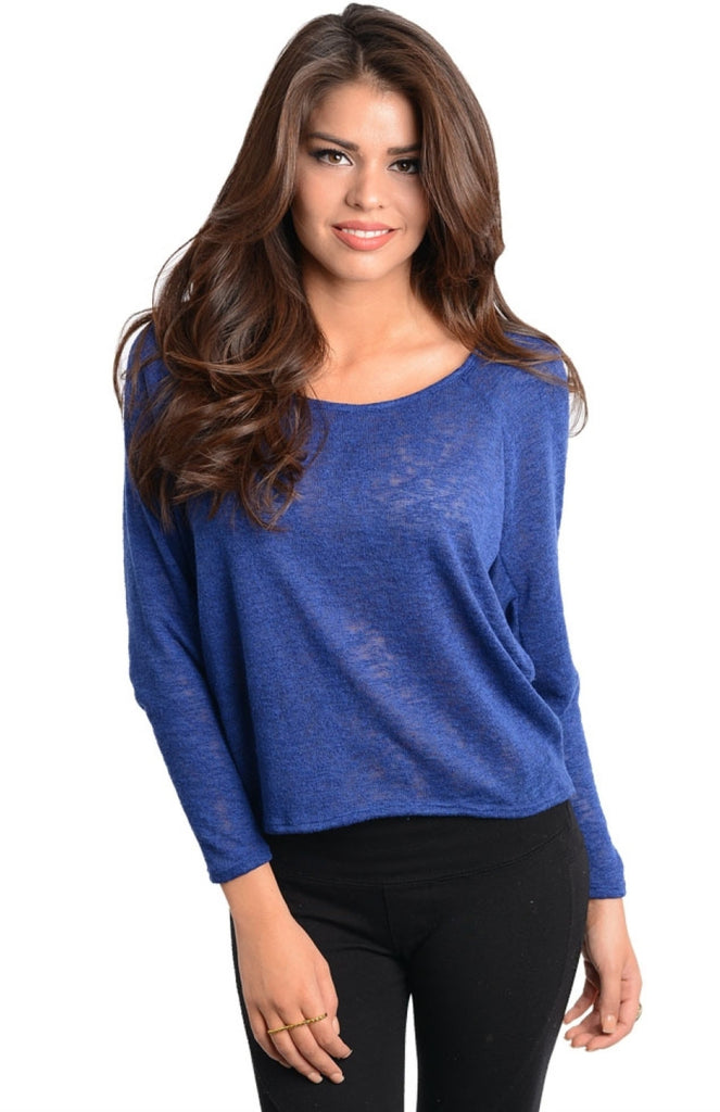 Raglan Knit Long Sleeve Top - BodiLove | 30% Off First Order  - 5