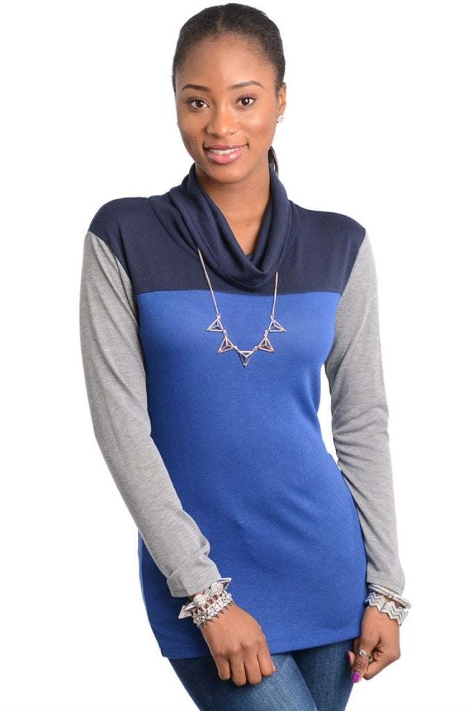 Color Block Cowl Neck Top - BodiLove | 30% Off First Order  - 3
