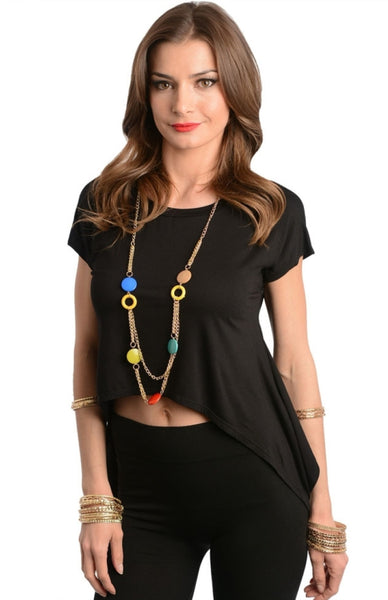 Trapeze Hem Necklace Top - BodiLove | 30% Off First Order  - 1