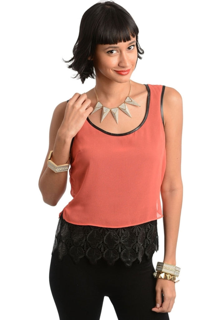 Sheer Crochet Hem Accent Top - BodiLove | 30% Off First Order  - 3