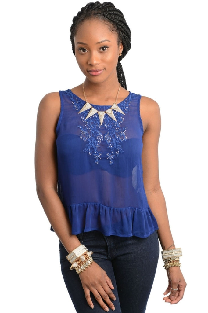 Embroidered Neck Button Back Blouse - BodiLove | 30% Off First Order  - 5