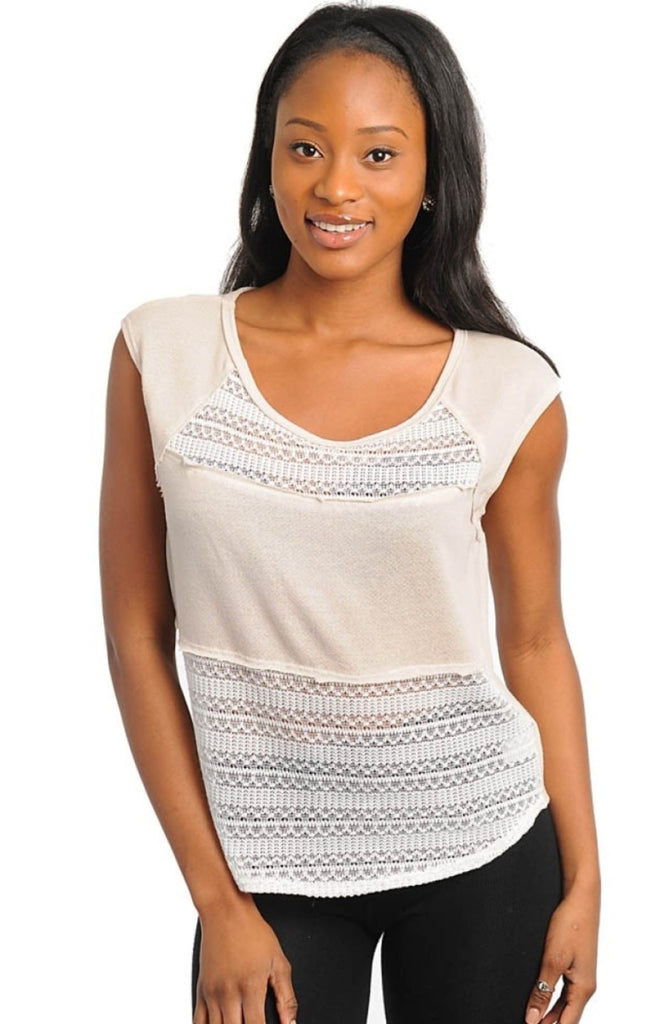 Lace Panel Top - BodiLove | 30% Off First Order  - 1