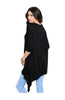 3/4 Sleeve Tunic Top W/ Trapeze Shark Bite Hem - BodiLove | 30% Off First Order  - 6