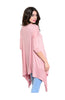 3/4 Sleeve Tunic Top W/ Trapeze Shark Bite Hem - BodiLove | 30% Off First Order  - 8
