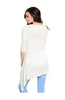 3/4 Sleeve Tunic Top W/ Trapeze Shark Bite Hem - BodiLove | 30% Off First Order  - 10