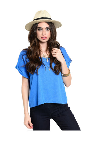 Basic Everyday Short Sleeve Boxy Crop Top