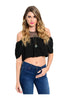 Short Sleeve Crop Top W/ Cutout Shoulders - BodiLove | 30% Off First Order  - 1