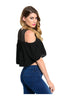 Short Sleeve Crop Top W/ Cutout Shoulders - BodiLove | 30% Off First Order  - 2