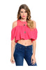 Short Sleeve Crop Top W/ Cutout Shoulders - BodiLove | 30% Off First Order  - 3
