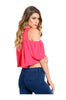 Short Sleeve Crop Top W/ Cutout Shoulders - BodiLove | 30% Off First Order  - 4