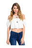 Short Sleeve Crop Top W/ Cutout Shoulders - BodiLove | 30% Off First Order  - 5