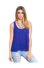 Sleeveless Chiffon Tank Top W/ Strappy Back Detail - BodiLove | 30% Off First Order  - 5