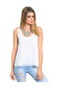 Sleeveless Chiffon Tank Top W/ Strappy Back Detail - BodiLove | 30% Off First Order  - 7