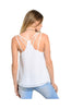 Sleeveless Chiffon Tank Top W/ Strappy Back Detail - BodiLove | 30% Off First Order  - 8