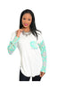 3/4 Sleeve Color Blocked Oversized Tunic - BodiLove | 30% Off First Order  - 1