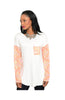 3/4 Sleeve Color Blocked Oversized Tunic - BodiLove | 30% Off First Order  - 2