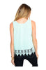 Sleeveless Chiffon Top W/ Crochet Lace Trim - BodiLove | 30% Off First Order  - 2