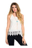 Sleeveless Chiffon Top W/ Crochet Lace Trim - BodiLove | 30% Off First Order  - 3
