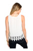 Sleeveless Chiffon Top W/ Crochet Lace Trim - BodiLove | 30% Off First Order  - 4