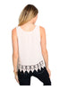 Sleeveless Chiffon Top W/ Crochet Lace Trim - BodiLove | 30% Off First Order  - 6