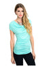 Ruched Cap Sleeve Top W/ Crochet Lace Back - BodiLove | 30% Off First Order  - 1
