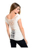 Ruched Cap Sleeve Top W/ Crochet Lace Back - BodiLove | 30% Off First Order  - 6