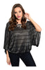 Striped 3/4 Kimono Sleeve Top - BodiLove | 30% Off First Order  - 1