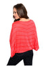 Striped 3/4 Kimono Sleeve Top - BodiLove | 30% Off First Order  - 6