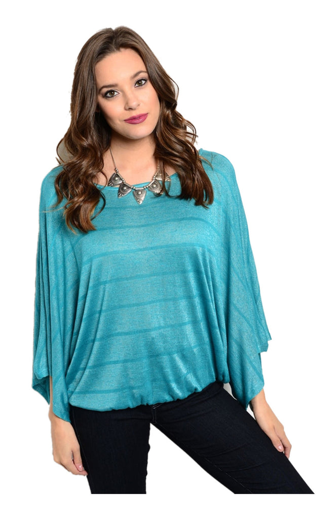 Striped 3/4 Kimono Sleeve Top - BodiLove | 30% Off First Order  - 7