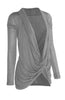 Long Sleeve Criss Cross Drape Front Top - BodiLove | 30% Off First Order  - 6