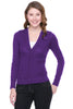 Long Sleeve Button Down Cardigan | 30% Off First Order | Purple