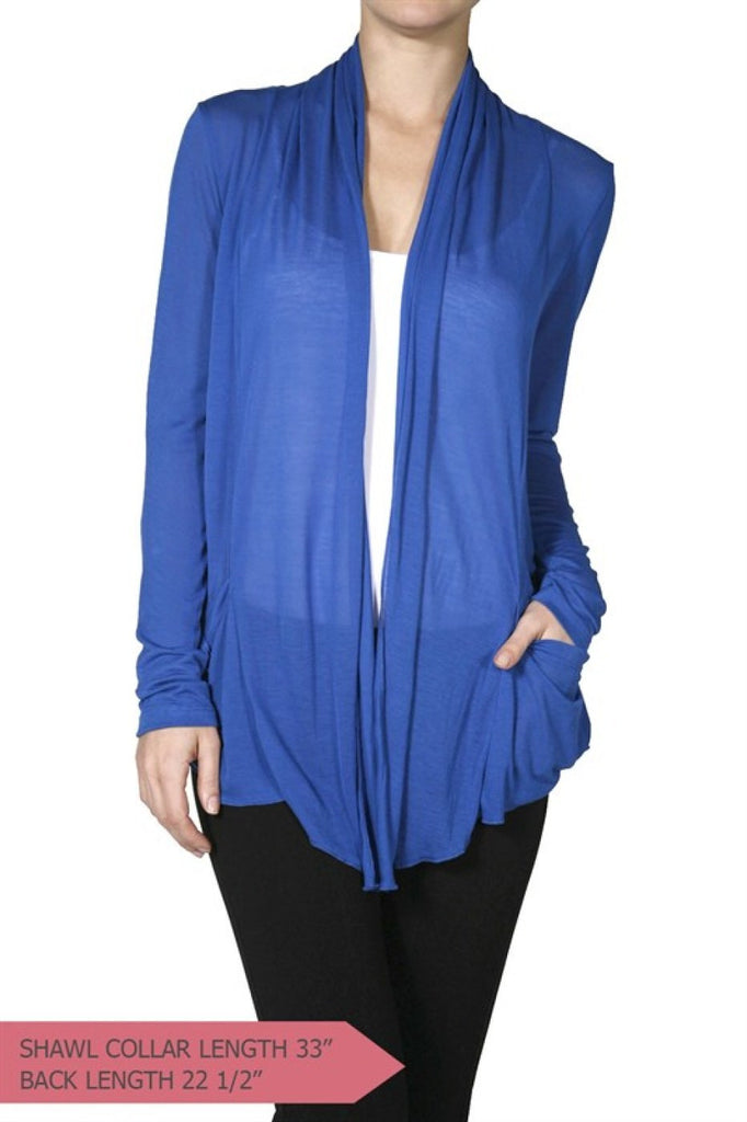 Long Sleeve Flyaway Cardigan With Side Pockets - BodiLove | 30% Off First Order  - 1