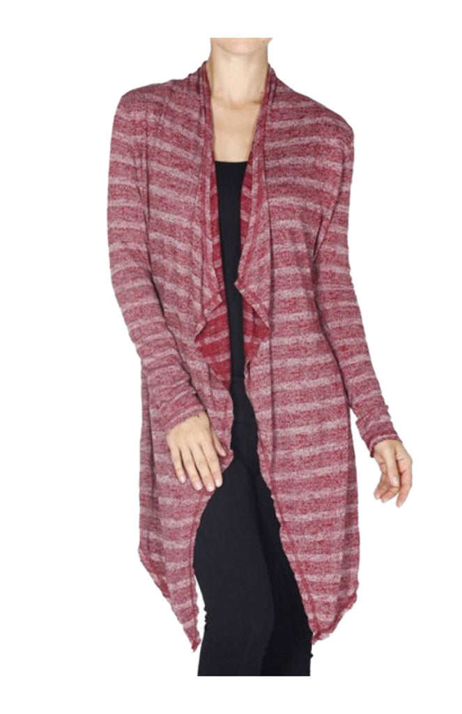 Long Sleeve Striped Knit Cardigan - BodiLove | 30% Off First Order  - 4