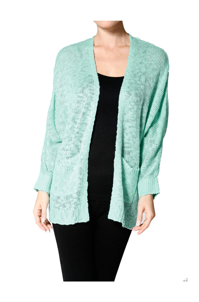 Long Sleeve Oversize Open Front Cardigan - BodiLove | 30% Off First Order  - 4