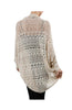 3/4 Sleeve Draped Open Knit Cocoon Cardigan - BodiLove | 30% Off First Order  - 5