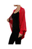 3/4 Sleeve Draped Open Knit Cocoon Cardigan - BodiLove | 30% Off First Order  - 13