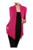 Long Sleeve Draped Open Front Cardigan - BodiLove | 30% Off First Order  - 1