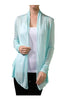 Long Sleeve Draped Open Front Cardigan - BodiLove | 30% Off First Order  - 17