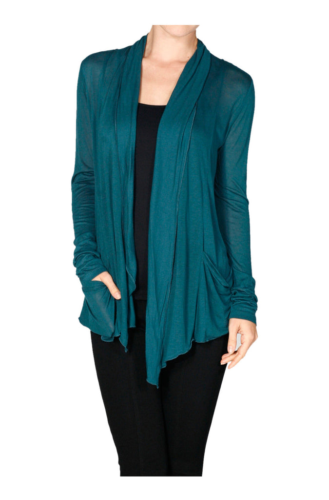 Long Sleeve Draped Open Front Cardigan - BodiLove | 30% Off First Order  - 32