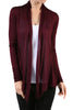 Long Sleeve Draped Open Front Cardigan - BodiLove | 30% Off First Order  - 38