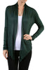 Long Sleeve Draped Open Front Cardigan - BodiLove | 30% Off First Order  - 36