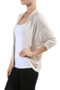 3/4 Sleeve Open Front Shrug Cardigan - BodiLove | 30% Off First Order - 10