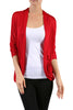 3/4 Sleeve Open Front Shrug Cardigan - BodiLove | 30% Off First Order - 5