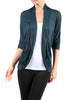 3/4 Sleeve Open Front Shrug Cardigan - BodiLove | 30% Off First Order - 7